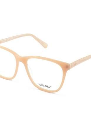 Armação de óculos quadrada chanel ch3582 rose