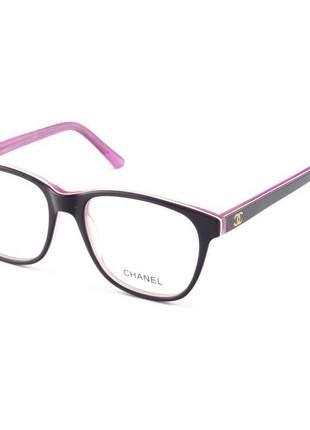 Armacao de óculos quadrada chanel ch0082 violeta