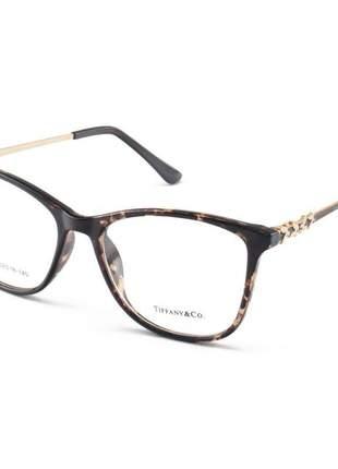 Armação de óculos feminino tiffany & co. xz7027 tartaruga claro