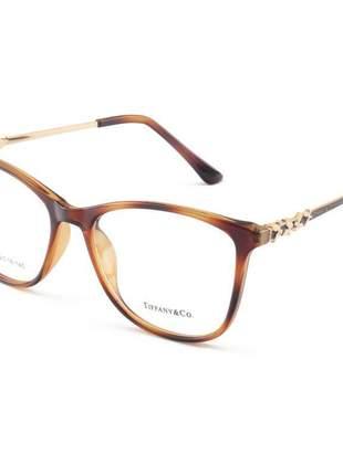 Armação de óculos feminino tiffany & co. xz7027 marrom tartaruga