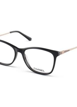 Armação de óculos quadrada chanel x3343 preto