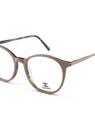 Armação de óculos redonda chanel ch58663 nude