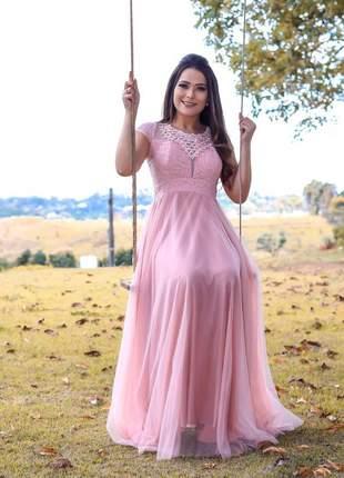 Vestido longo  de festa madrinha casamento