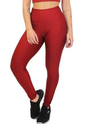 Calça legging feminina lisa vermelha