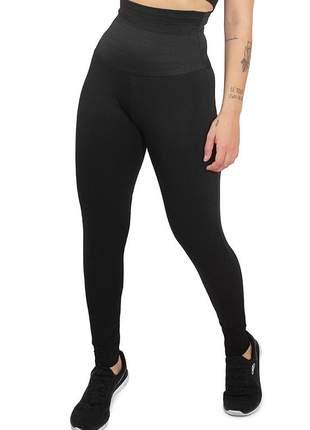 Calça legging feminina lisa com cinta modeladora embutida fit4life