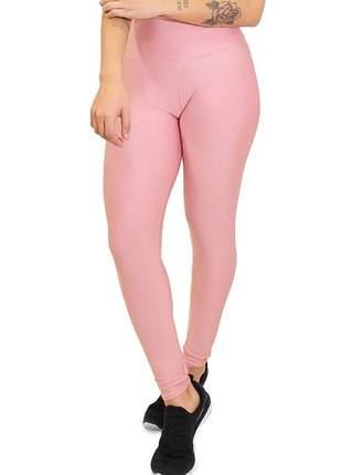 Calça legging feminina lisa rosê