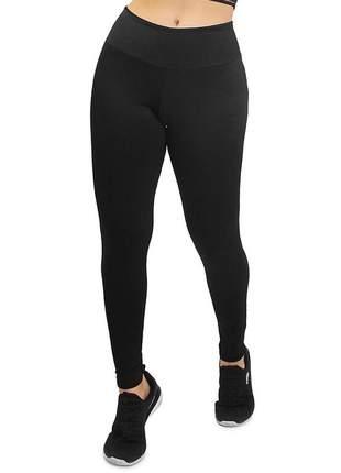 Calça legging feminina lisa preto