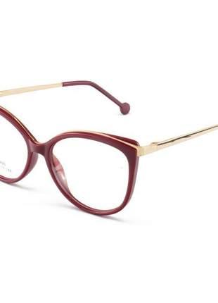 Oculos armação para grau alita - vermelho