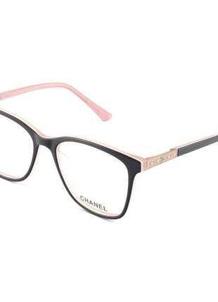 Armacao de óculos quadrada feminina chanel ch3503 preto e rosa