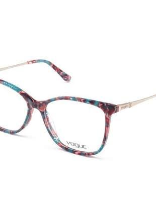 Armacao de óculos quadrado vogue vo2505 azul e rosa mesclado