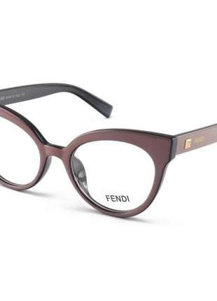 Armacao de óculos gatinho fendi ff2017 nude