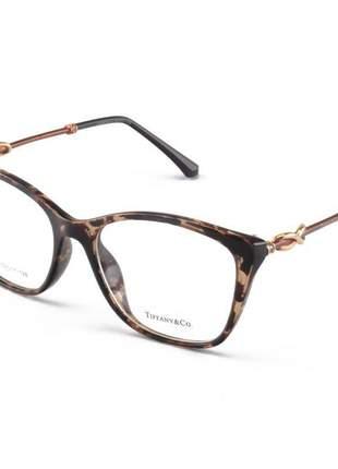 Armacao de óculos quadrada tiffany & co tf2160 tartaruga claro
