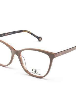 Óculos armação de grau - carolina herrera ch683 nude tartaruga