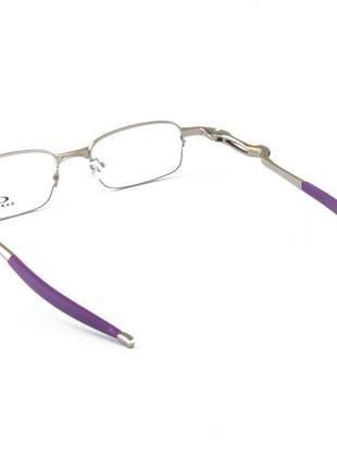 Armacao de óculos oakley coilover ox5043 prata e roxo