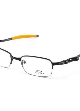 Armacao de óculos oakley coilover ox5043 preto e amarelo