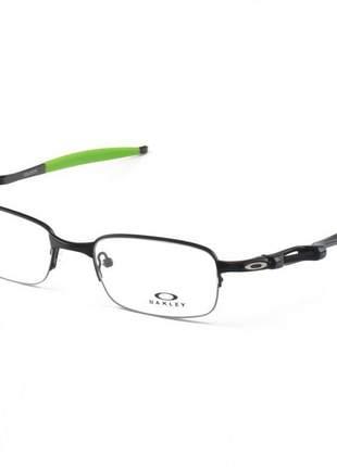 Armacao de óculos oakley coilover ox5043 preto e verde
