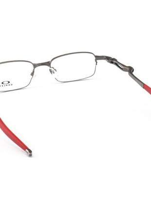 Armacao de óculos oakley coilover ox5043 grafite e vermelho
