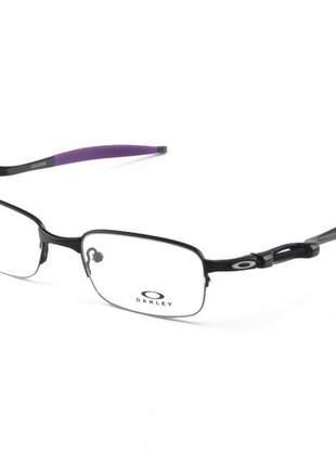 Armacao de óculos oakley coilover ox5043 preto e roxo