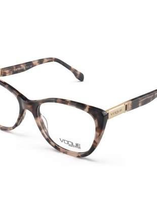 Armacao de óculos gatinho vogue lq0140 tartaruga claro