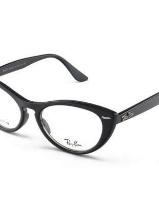Armacao de óculos gatinho ray-ban nina rx4314 preto