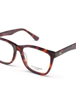 Armacao de óculos quadrada ana hickmann ah 6225 marrom tartaruga