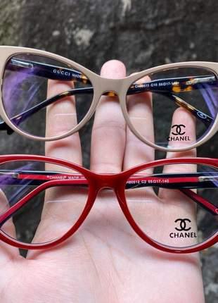 Armacao de óculos gatinho chanel ch80512 sapatinho