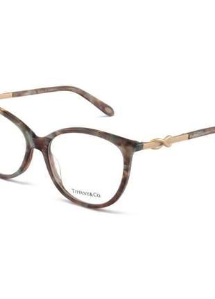 Oculos armação de grau - tiffany & co. infinito - tf2143-b mesclado