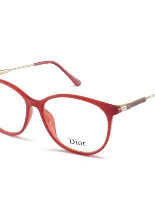 Armacao de óculos oval dior cd 558 vermelha