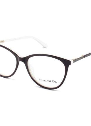 Armacao de óculos oval tiffany tf2142 bordo e branco