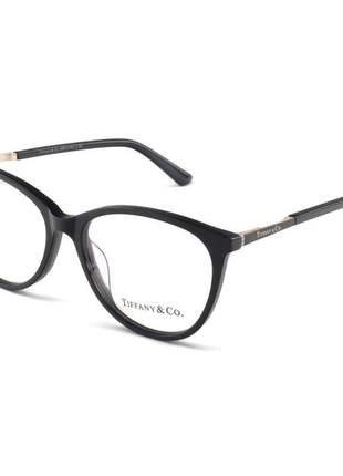 Armacao de óculos oval tiffany tf2142 preto