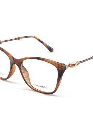Armacao de óculos quadrada tiffany & co tf2160 marrom mesclado