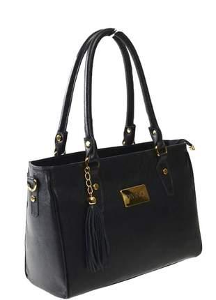 Bolsa de ombro com alça longa couro legítimo divino - ref 5001 preto