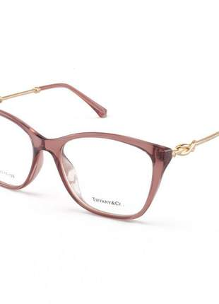 Armacao de óculos quadrada tiffany & co tf2160 rosa translucido