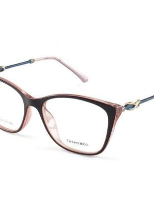 Armacao de óculos quadrada tiffany & co tf2160 preto e haste azul