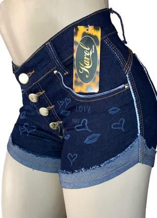 Short cintura alta feminino elastano