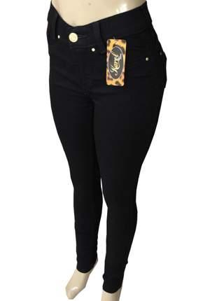 Calça jeans feminina cós alto lycra (hot pants)