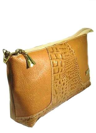 Mini bag transversal em couro legítimo divino - ref 18001 whisky