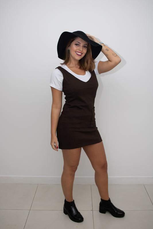 Vestido suede marrom