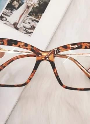 Armação óculos de grau cristal 3d lapidado
