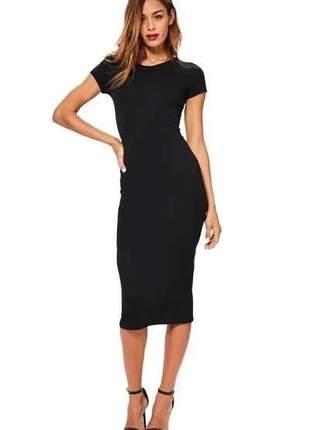 Vestido feminino curto midi casual