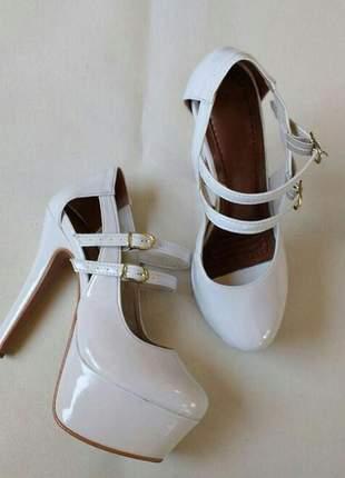 Sapatos femininos scarpins plataforma coleção noivas