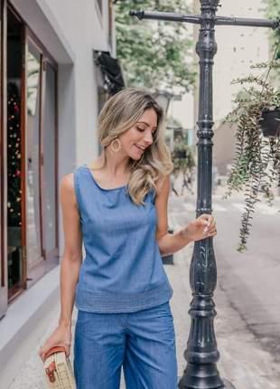 Conjunto jeans pantacourt