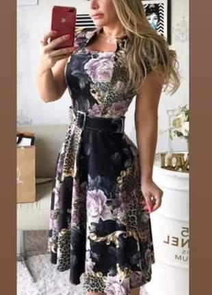 Vestido midi preguinha moda evangélica