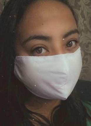 Mascara tecido rosto dupla proteção lavável não descartável anti vírus