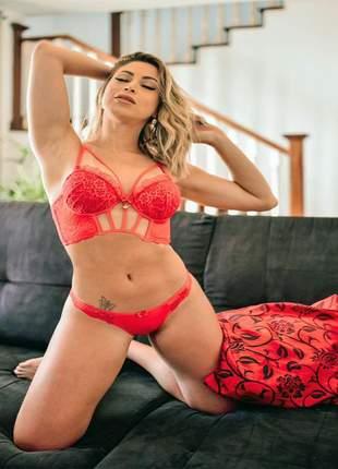 Conjunto lingerie deluxe com barbatanas by carol narizinho
