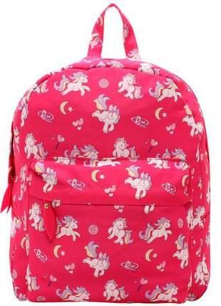 Mochila escolar pink unicornio coleção lorena queiroz
