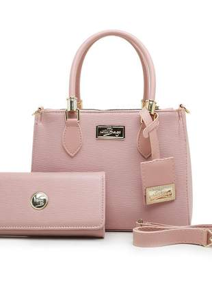 Kit conjunto bolsa + carteira feminina willibags