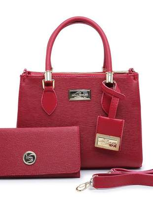 Kit bolsa feminina + carteira fashion willibags