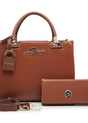 Kit bolsa feminina grande + carteira  luxo barato promoção willibags