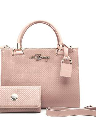 Kit bolsa estruturada feminina + carteira luxo willibags promoção